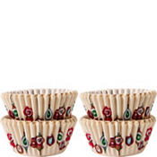 Christmas Ornament Mini Baking Cups 100ct