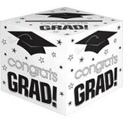 White Graduation Card Holder Box - Congrats Grad