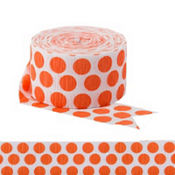 Orange Polka Dot Streamer