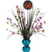 Celebrate 40th Birthday Spray Centerpiece