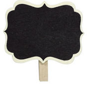 Scroll Chalkboard Label Clips 8ct