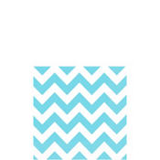 Caribbean Blue Chevron Beverage Napkins 16ct