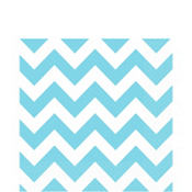 Caribbean Blue Chevron Lunch Napkins 16ct
