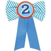Blue 2nd Birthday Award Ribbon