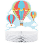 Up & Away Baby Shower Honeycomb Centerpiece