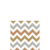 Metallic Chevron Beverage Napkins 16ct