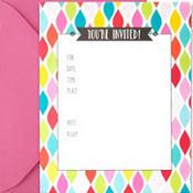Colorful Twist Invitations 50ct