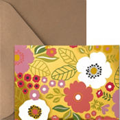 Metallic Coral Floral Note Cards 20ct