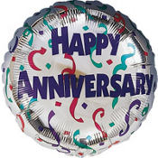 Anniversary Celebration Balloon 18in