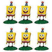 SpongeBob Cake Toppers 6ct