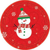 Very Merry Snowman Lunch Plates 10ct