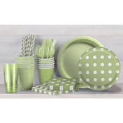 Leaf Green Polka Dot Party Supplies
