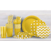 Sunshine Yellow Polka Dot Party Supplies