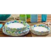 Blue Dots Value Plates & Tableware