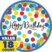Bright Dot Birthday Party Supplies