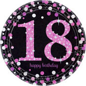 Pink Sparkling Celebration 18th Birthday Party Supplies