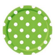 Kiwi Green Polka Dot Party Supplies