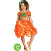 Girls Light-Up Pumpkin Princess Costume
