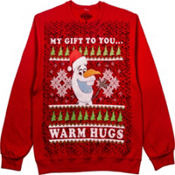 Adult Olaf Christmas Sweatshirt - Frozen