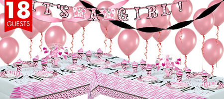 baby shower ideas pink safari baby shower party supplies party city