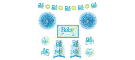 Welcome baby boy baby shower party supplies party city for Baby welcome home decoration