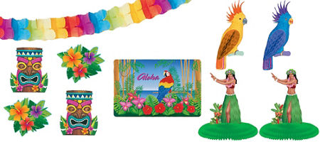 quick shop hawaiian luau decorating - Luau Decorations
