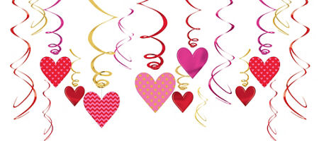 valentines day swirl decorations 30ct party city canada - Party City Valentine Decorations