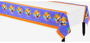Fun Turkey Plastic Table Cover