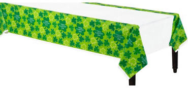 Playful Shamrocks Plastic Table Cover