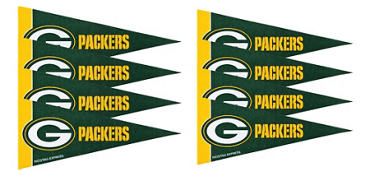 Green Bay Packers Pennants 8ct