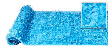 Blue Vinyl Floral Sheeting