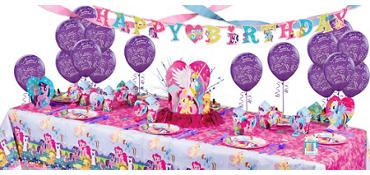 My Little Pony Party Supplies Super Party Kit for 8 Guests