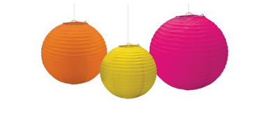 Warm Paper Lanterns 3ct