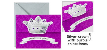 Premium Her Majesty Invitations 8ct