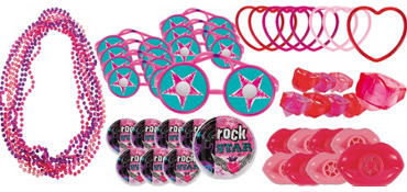 Rocker Girl Favor Value Pack with 48 pieces