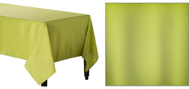 Avocado Green Fabric Tablecloth