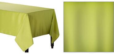 Avocado Green Fabric Tablecloth