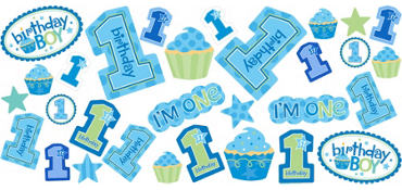 Blue Sweet Little Cupcake Cutouts 30ct