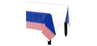 American Classic Patriotic Plastic Table Cover