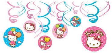 Hello Kitty Swirl Decorations 12ct