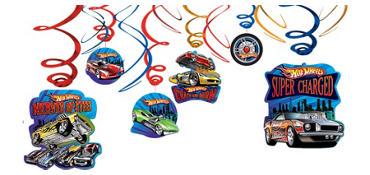 Hot Wheels Swirl Decorations 12ct