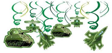 Camouflage Swirl Decorations 12ct