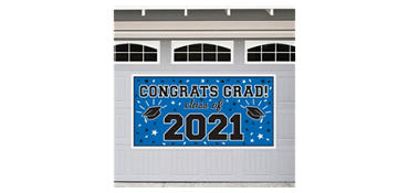 Blue 2013 Graduation Banner 65in