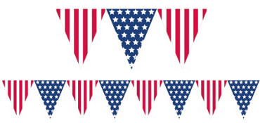 Patriotic Pennant Flag Banner