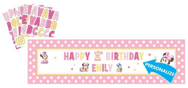 Personalized Minnie Mouse Birthday Banner