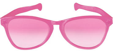Pink Giant Fun Glasses