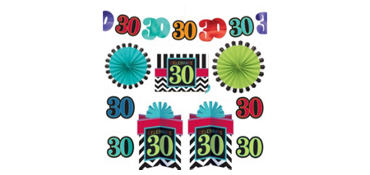 Celebrate 30th Birthday Room Decorating Kit 10pc