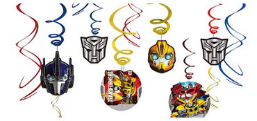 Transformers Swirl Decorations 12ct