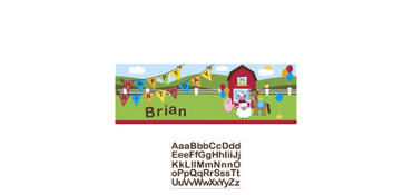 Farmhouse Fun Personalized Birthday Banner