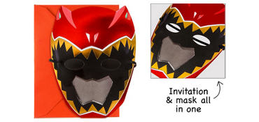 Premium Power Rangers Invitations 8ct